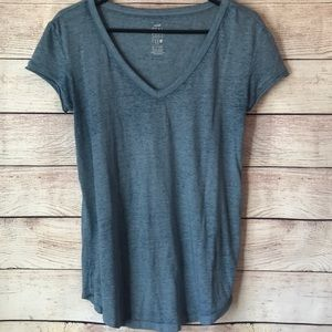Aerie Real Soft Short Sleeve Tee XS Blue